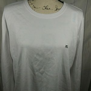 Basic editions white long sleeve top